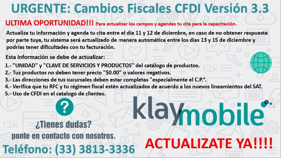 Cambios fiscales CFDi versión 3.3